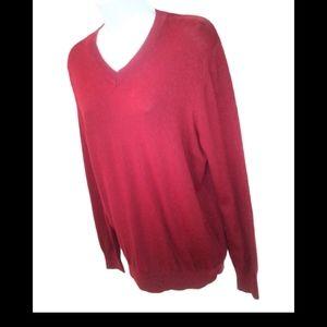 Marc ecko wool burgundy long sleeve shirt